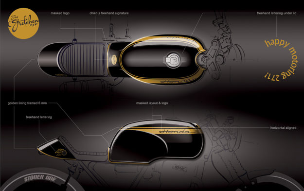 Custom Honda sketch by 271 Design