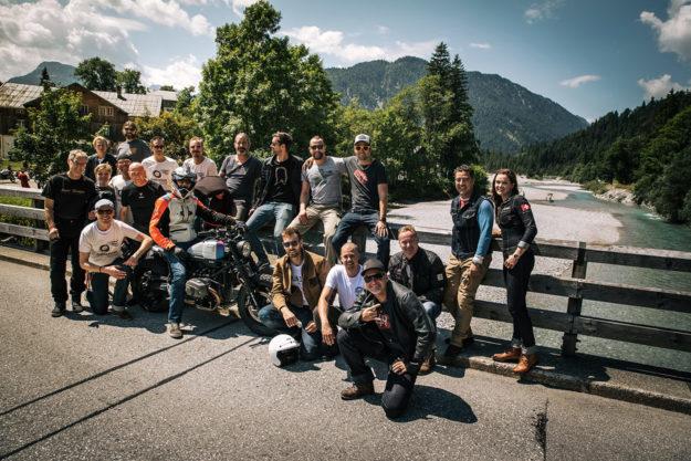 BMW Motorrad Days customizers group shot