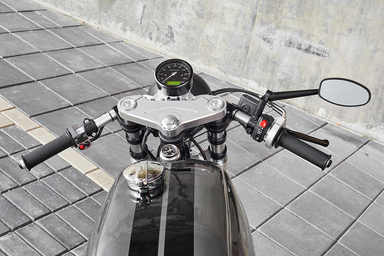 grey power: angry lane's yamaha sr500 cafe racer | bike exif