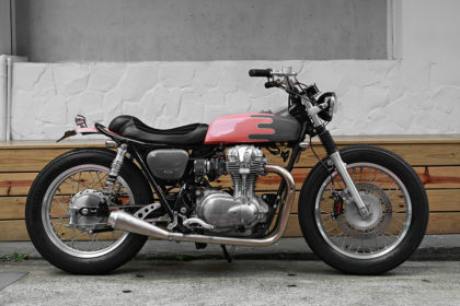 2LOUD Custom's low-ridin' Kawasaki W800