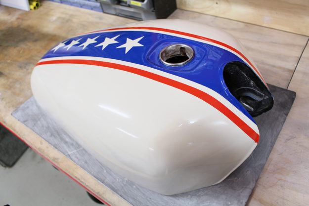 Motorcycle tank painting