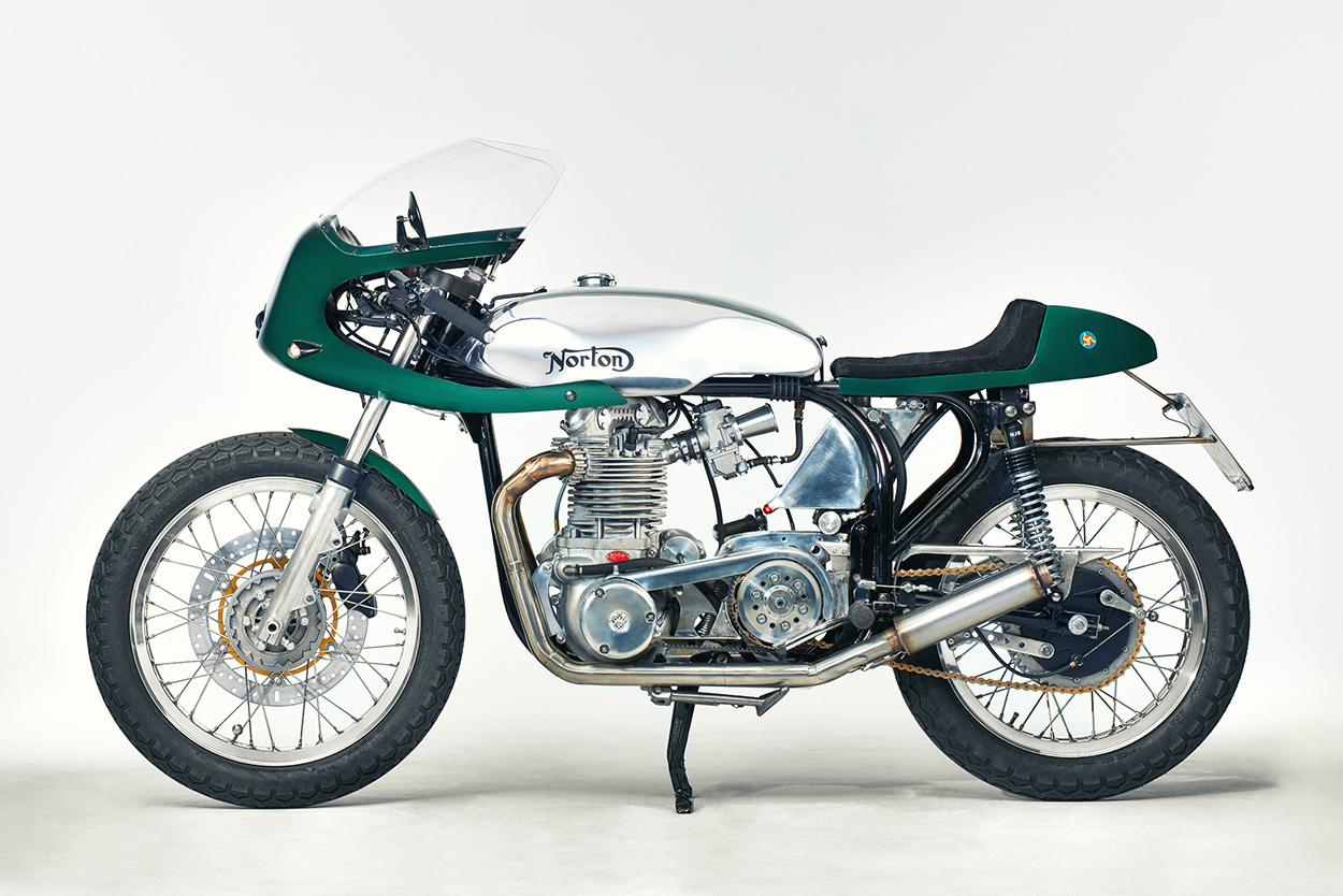 Reinhard Neumair's Norton Atlas Race Replica