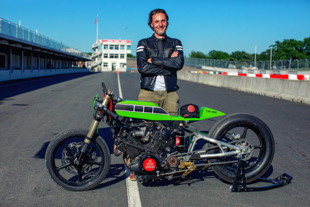 Yamaha TR1 drag bike by Schlachtwerk