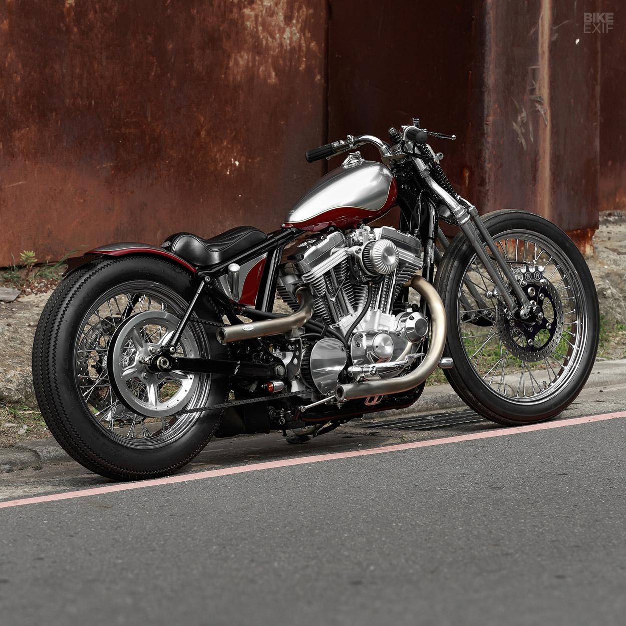 Subtle Deception: A Harley Sportster bobber from 2LOUD   Bike EXIF