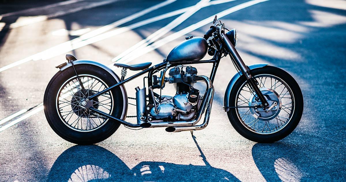 C-Seven: Deus nails the vintage Triumph bobber