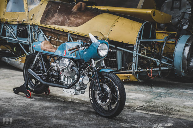 Ready For Take-Off: An aviation-styled Moto Guzzi Le Mans cafe racer from Costa Rica