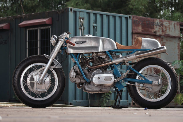 Ducati 860 GT cafe racer by Sabotage Cycles