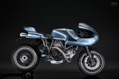 Ducati MH900e cafe racer by Stadafab and Red Max Speed Shop