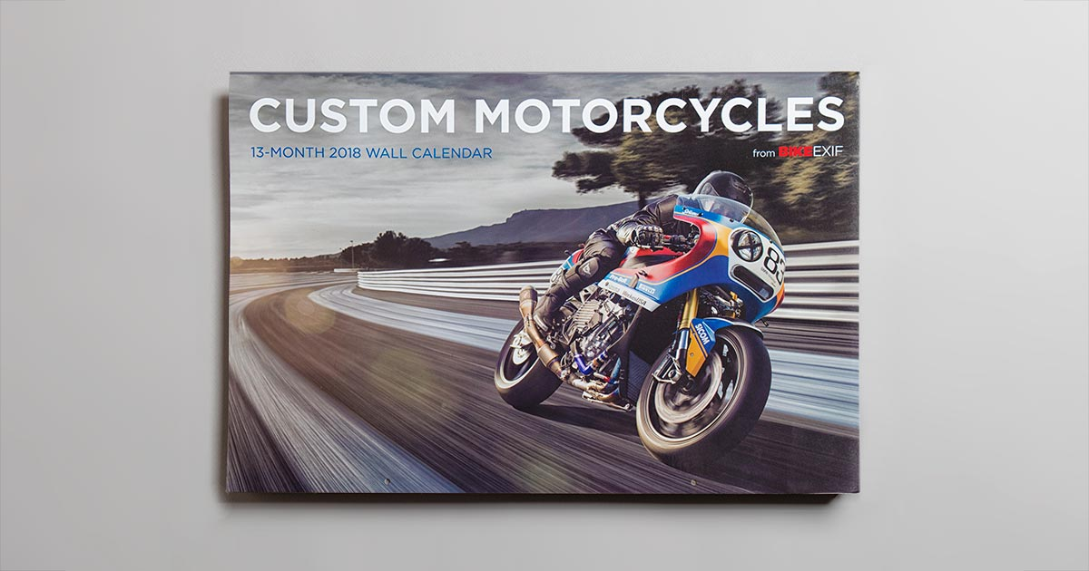On Sale Now: The 2018 Motorcycle Calendar