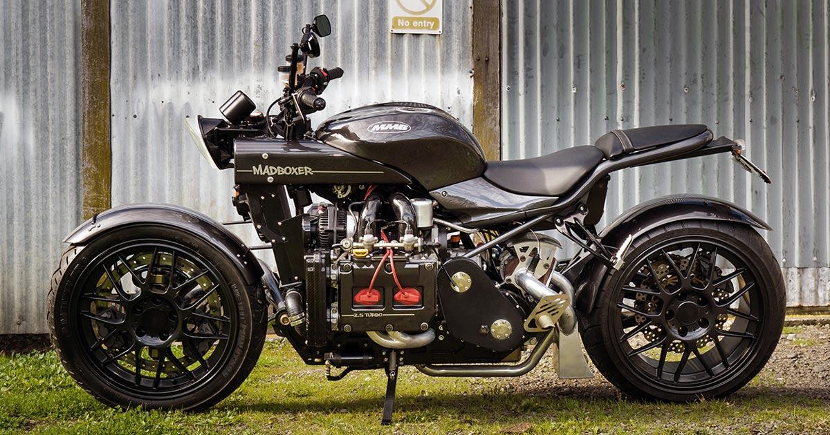 Madboxer: A motorcycle with a Subaru WRX car engine