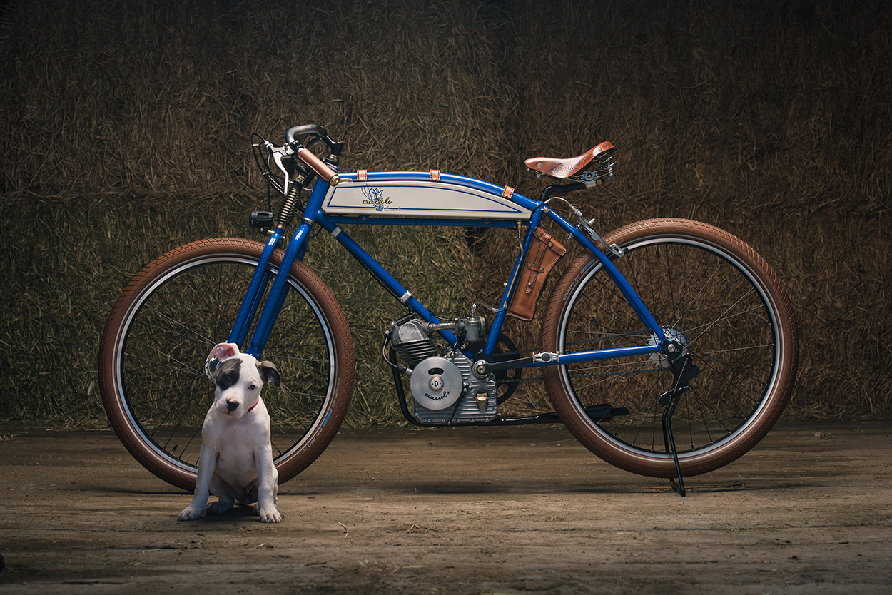 Puppy Love: A reimagined vintage Ducati Cucciolo from Analog Motorcycles
