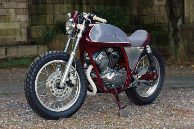 Yamaha SRV250 cafe racer by Speedtractor