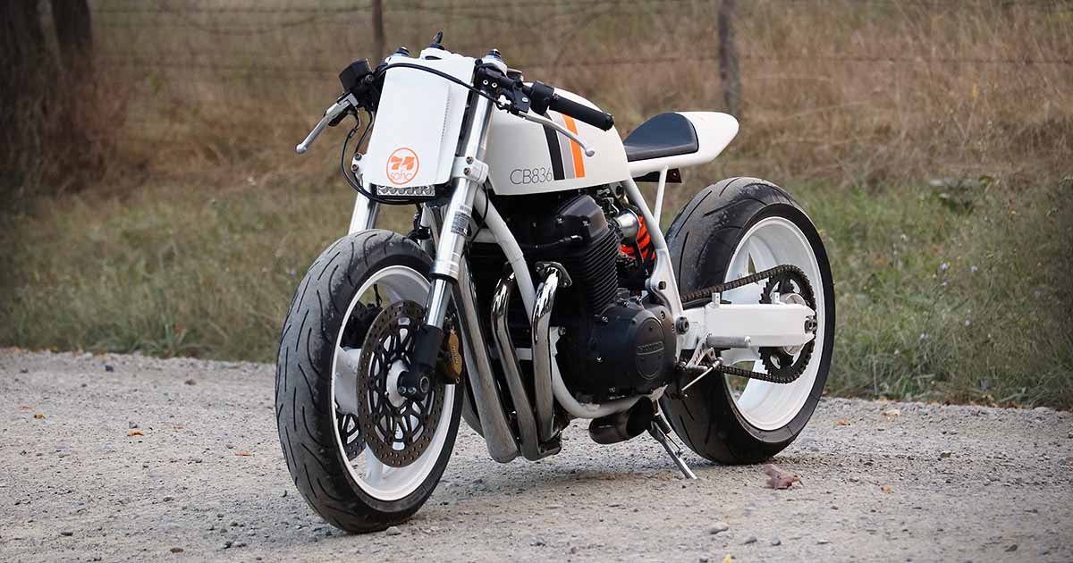 White Hot: A cafe racer CB750 from New York
