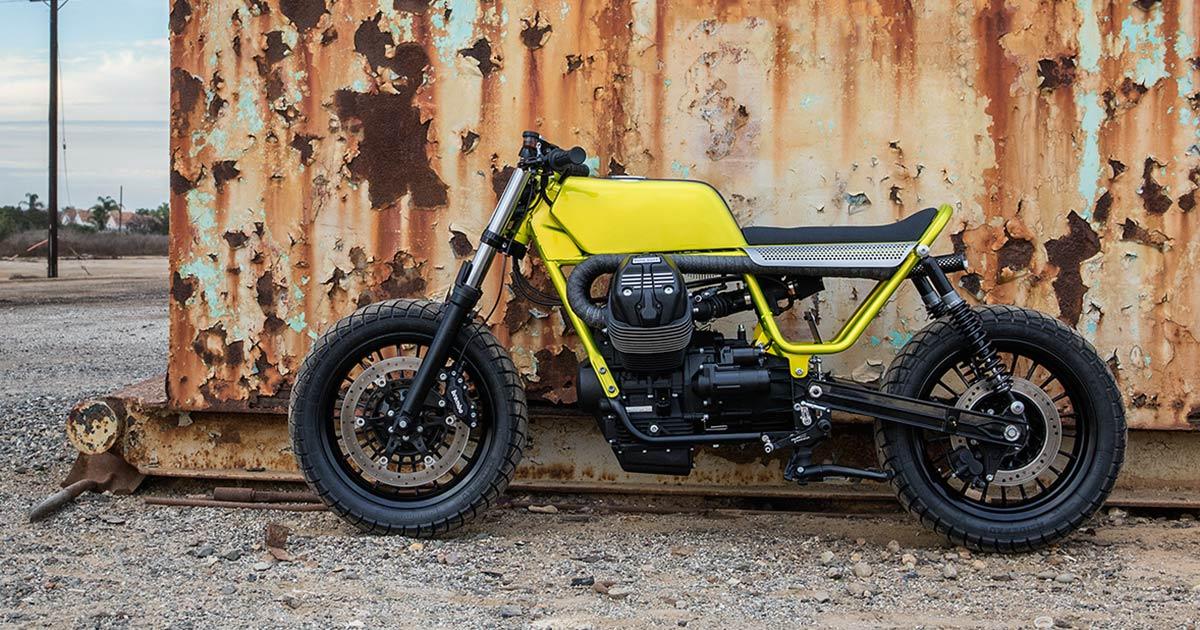 Fat Tracker: Untitled's Stripped-Down Moto Guzzi V9