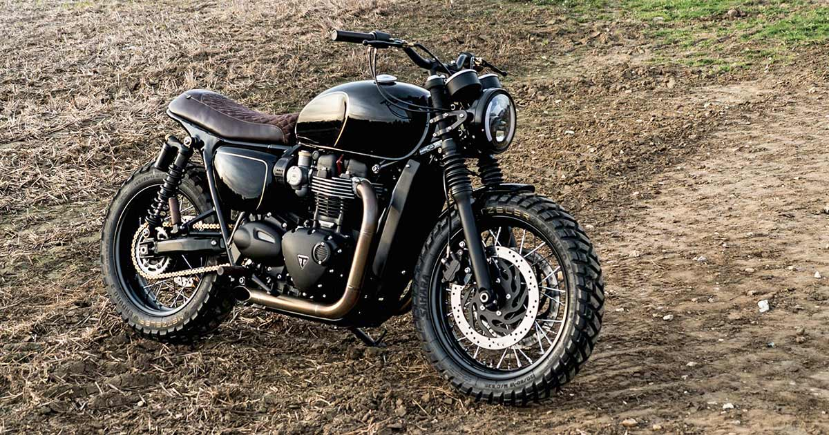 Buffed: A Muscular Bonneville T120 from Old Empire