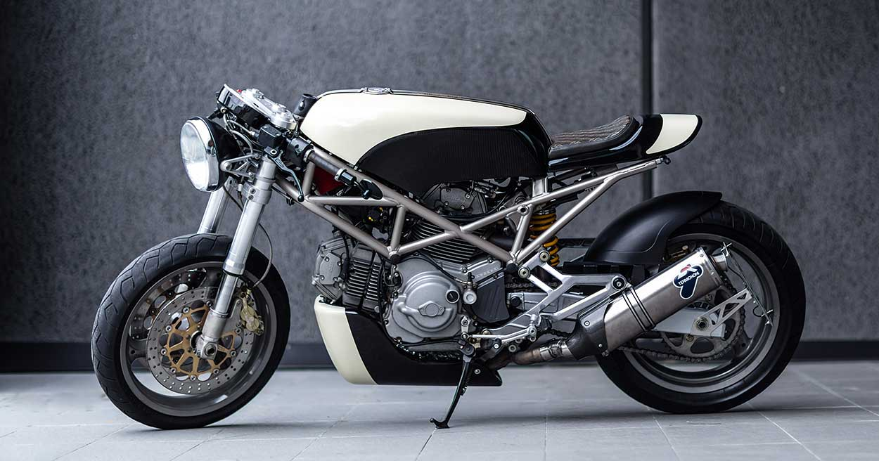 Stone Cold Crazy: A Ducati Monster Wrapped in Basalt