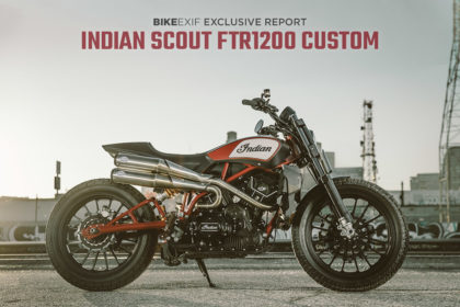 The Indian Scout FTR1200 Custom street tracker concept