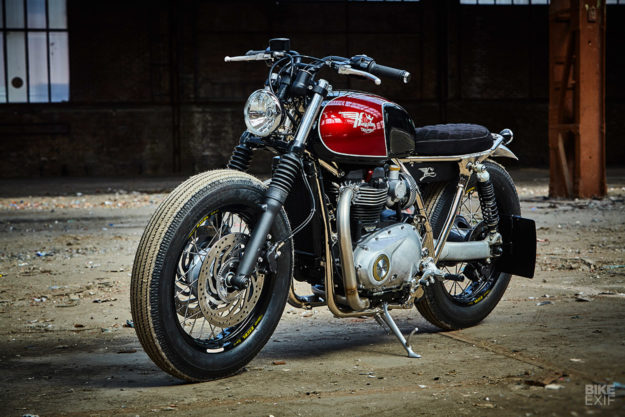 Brat style Triumph Thruxton by Kingston Custom