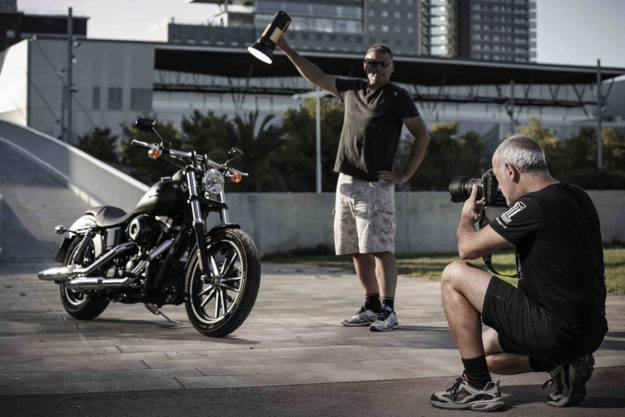 Professional motorcycle photography: Behind the scenes at a press launch