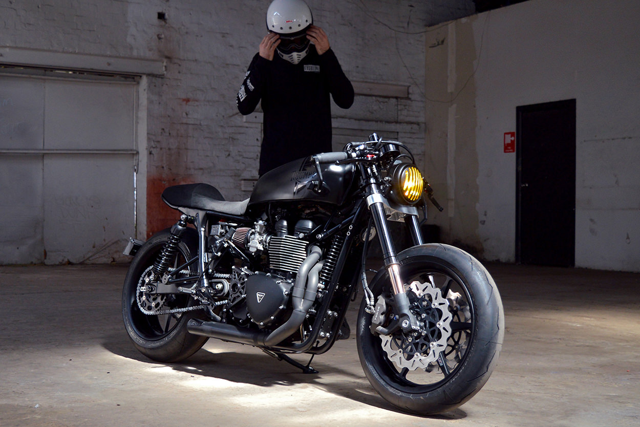 Populaire Back In Black: A Bonneville cafe racer resurrection   Bike EXIF NC26