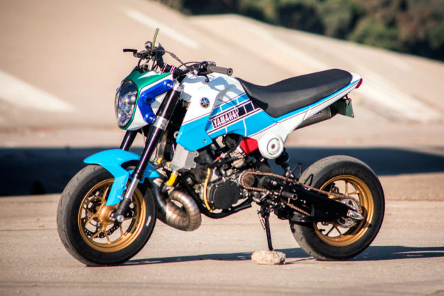 Custom Honda Grom with Yamaha YZ250 engine