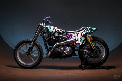 Lazer Zebra: Turning Granddad's old Harley into a Flat Tracker