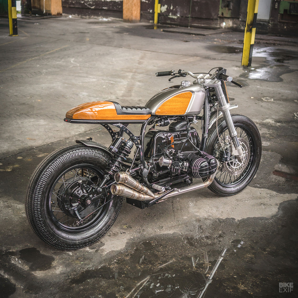 Ironwoods New Bmw Boxer Goes With The Grain Bike Exif Fat Sitting Up Top Is An Aftermarket Tank Originally Designed For A Harley Davidson Sportster Forty Eight Its Been Modded To Fit And Run Two Petcocks
