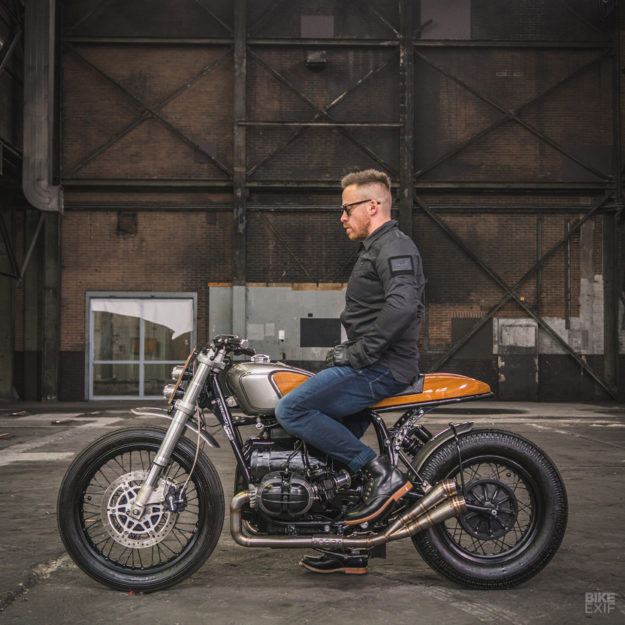 Custom BMW R75 by Ironwood, inspired by classic cars and boats