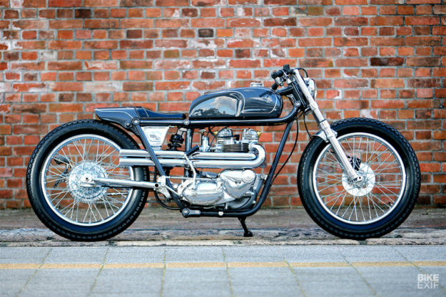 Triumph TR6 custom motorcycle by Heiwa