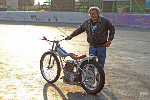 Bobby Hack and the Dutchmann 1968 Jawa speedway bike
