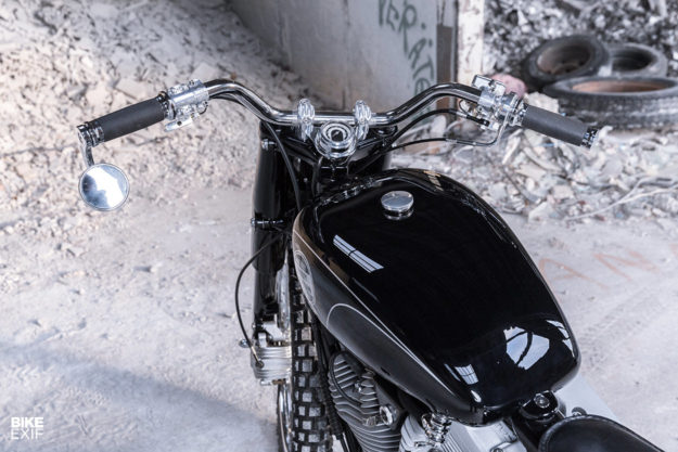 Custom Harley-Davidson Sportster scrambler built for Google Switzerland boss Patrick Warnking