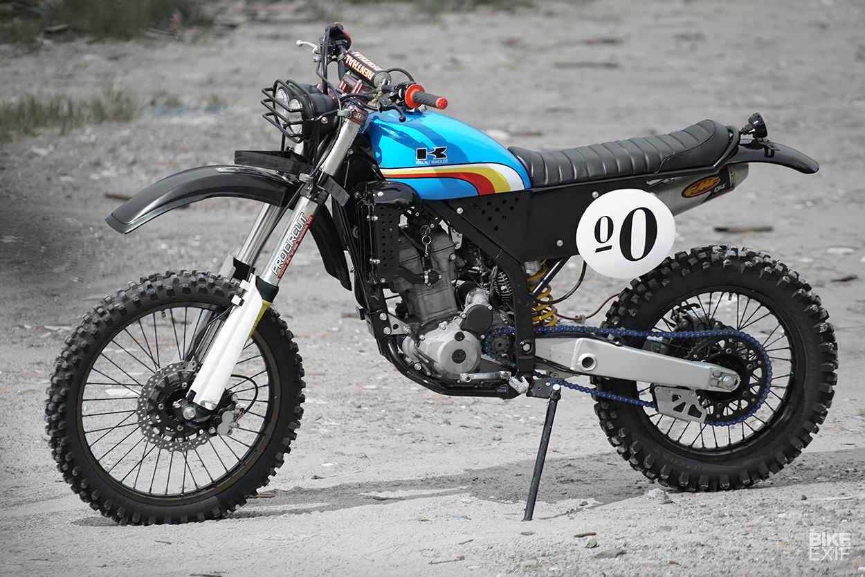 Knuckle Whackjob Gives The Klx250 A Vintage Enduro Vibe Bike Exif