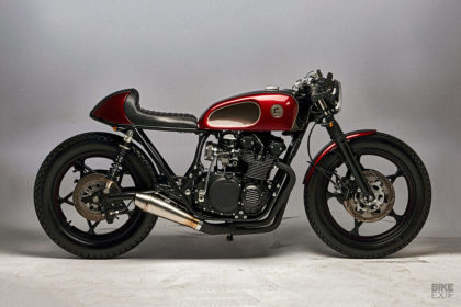 Suzuki GS550 cafe racer by Eastern Spirit Garage of Poland
