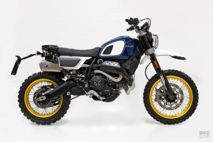 Outsider: Unit Garage makes an offered kit for the Ducati Scrambler Desert Sled
