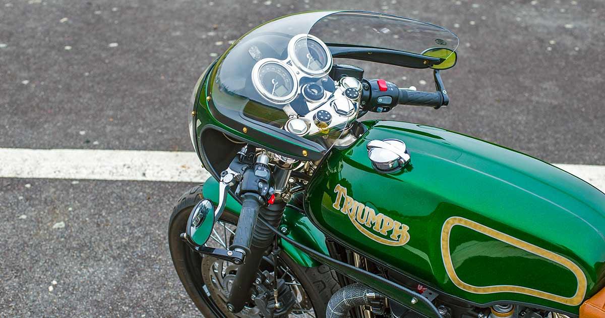 The Mongrel: A 'Rickman' Triumph T120 cafe racer