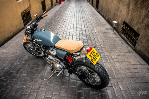 Harley Sportster 883 cafe racer with 1200 conversion kit by XTR Pepo