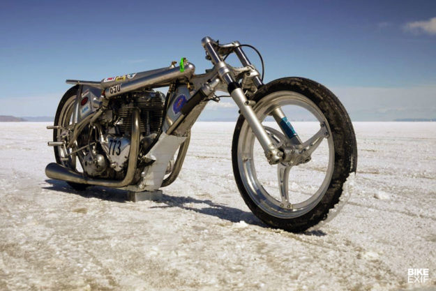 Alp Sungurtekin's 175 mph Triumph 'A Bike' land speed record holder