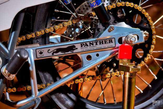 Fast cat: Mule's Panther-framed Triumph T140 tracker