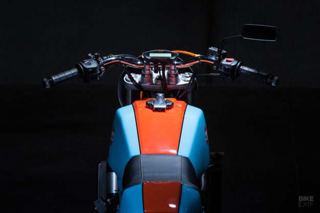 Funduro! A rare BMW F650 custom finished in Gulf Racing colors
