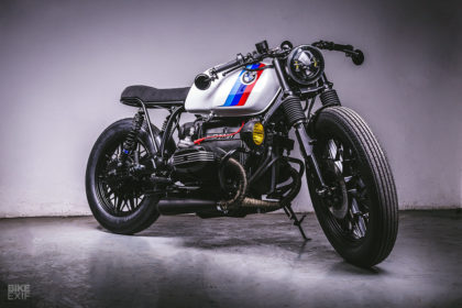 A BMW R100RS cafe racer built by the boss of the F2 team Campos Racing