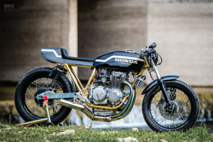 Goldie: A Honda CB400F cafe racer by Shawn Smith of Innovative Motorsports