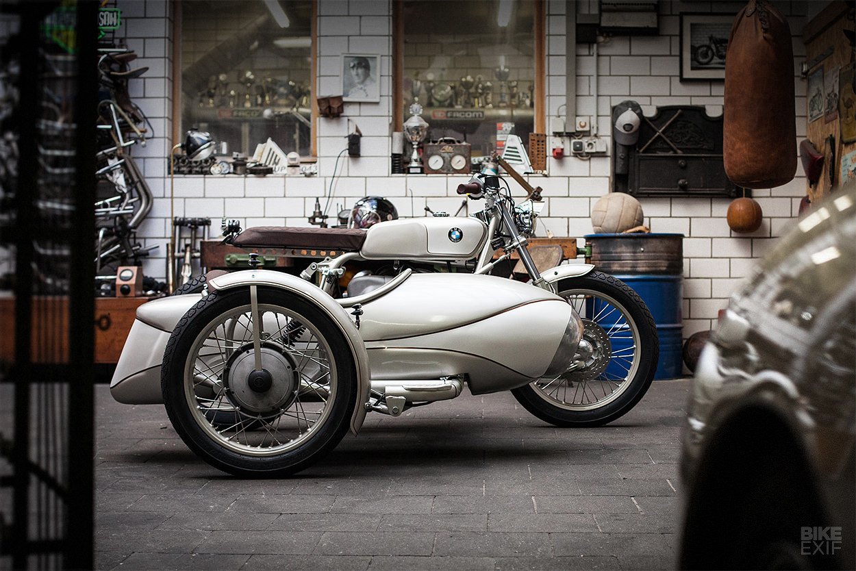 BMW R80 motorcycle with sidecar by Kingston Custom