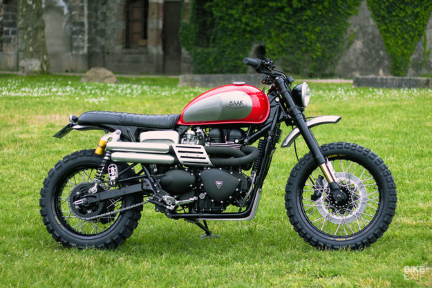 Quality Time: A 2016 Triumph Scrambler customized for father and son