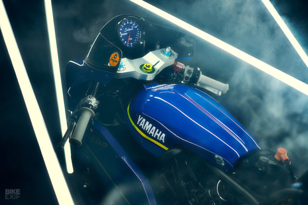 Tribute to the 'Gauloises' Bol d'Or racer: A Yamaha XSR700 Sultans of Sprint bike