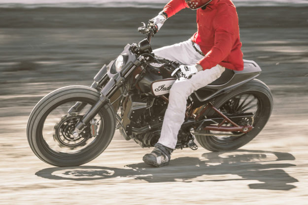 Dimitri Coste rides the Indian FTR1200