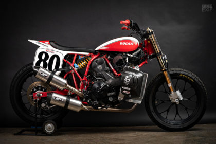 The Lloyd Brothers' Ducati flat tracker