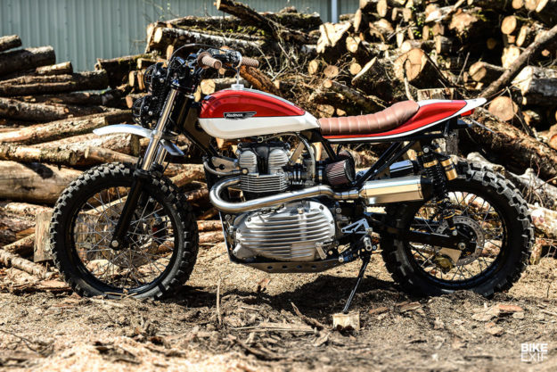 Custom Triumph scrambler by Redmax Speed Shop