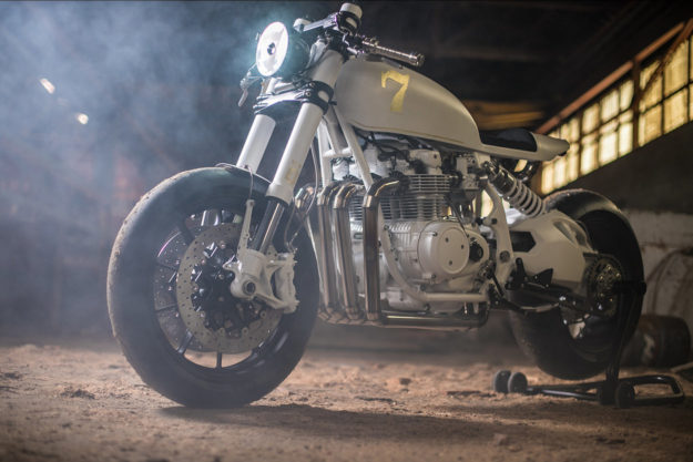 Honda CB500 Four cafe racer from France