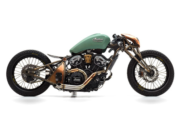 Indian Scout Bobber Build-off winner by Alfredo Juarez