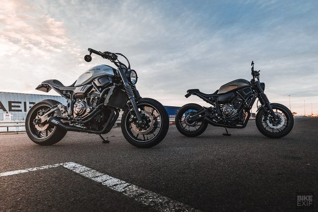 Two custom Yamaha XSR700s by Gasoline